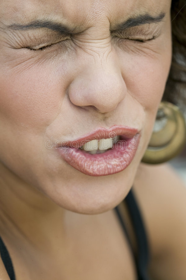 Download Portrait Of Young Woman Making Funny Expression Royalty Free Stock Photos - Image: 6334718