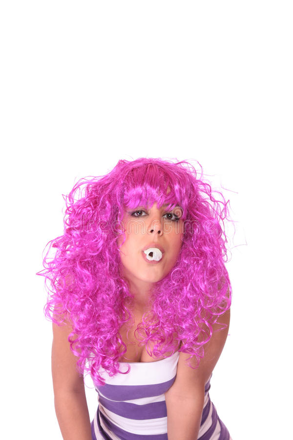 Download Portrait Of A Young Woman, Making A Silly Face Stock Photography - Image: 11233442