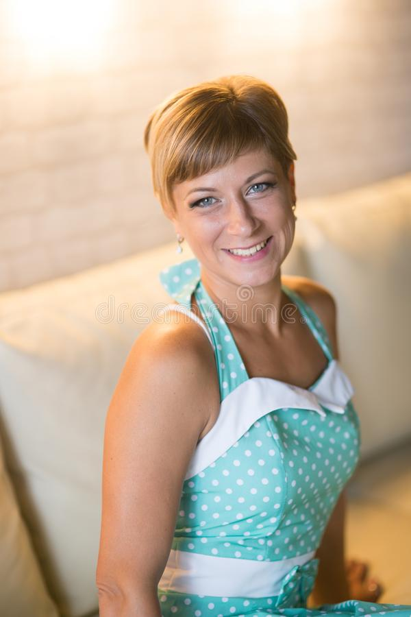 Portrait of a young woman stock image
