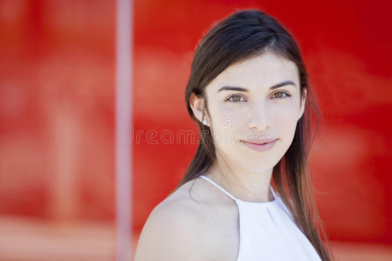 Portrait Of A Young Woman Smiling royalty free stock photography