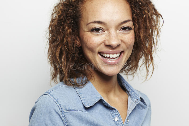Download Portrait Of A Young Woman In Studio Stock Image - Image: 40914329