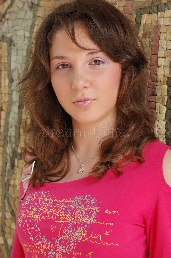 Portrait of young women stock photos