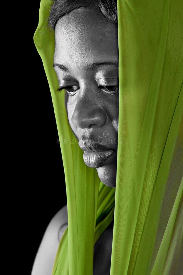Portraitafrikanerfrau lizenzfreie stockfotos