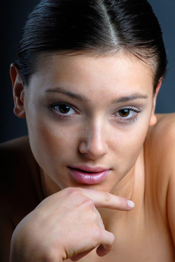 Portraitfrau lizenzfreie stockfotografie