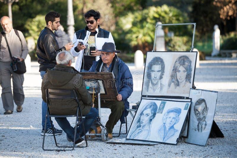 Portraitist ulica Projektant twarze obrazy stock