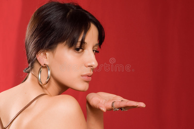 Portraitmädchen lizenzfreie stockfotos