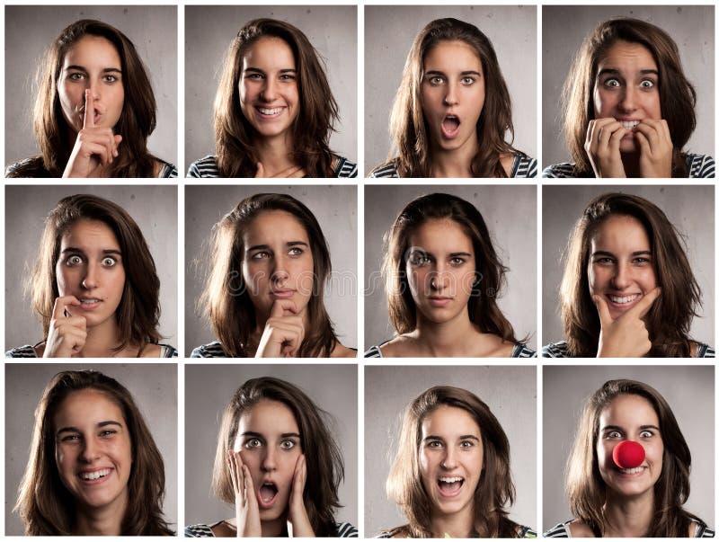 Portraits de jeune femme photos stock
