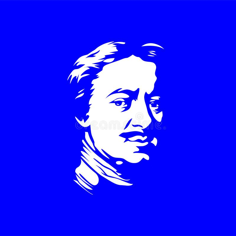 Portraits of famous Russian Peter the great royalty free stock photography