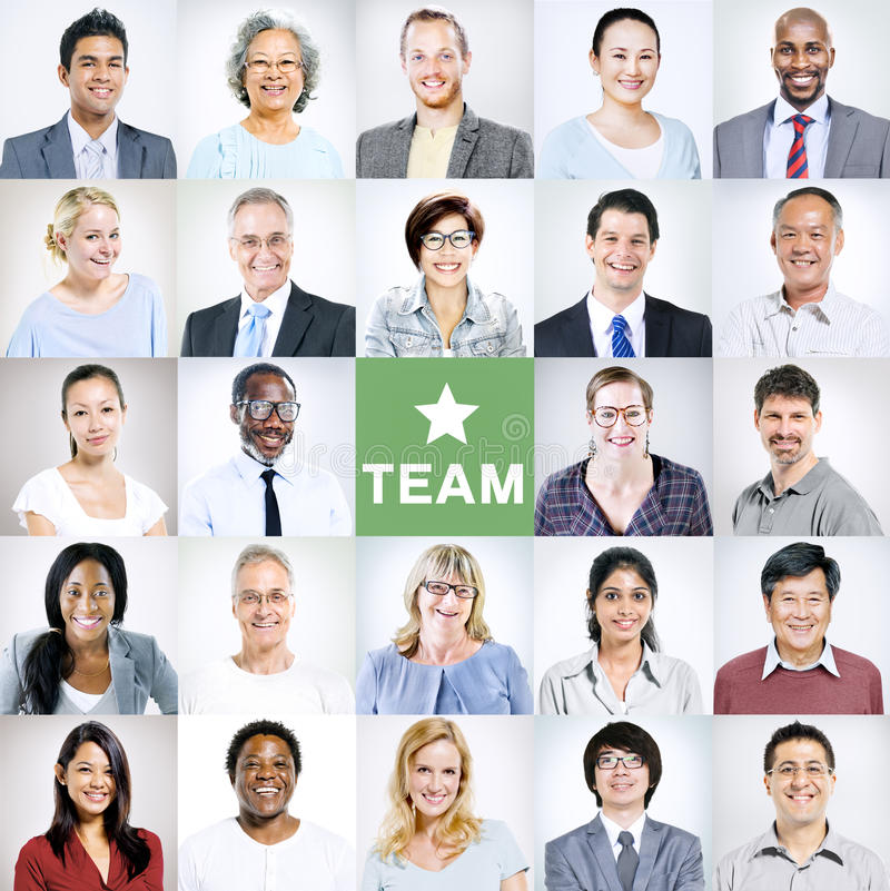 Portraits of Multiethnic Diverse Business People royalty free stock images