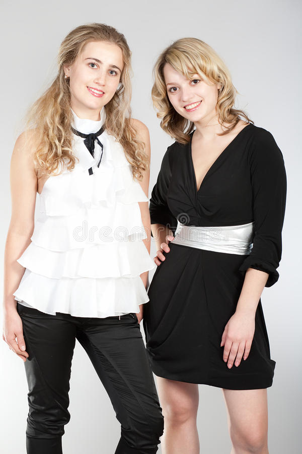 Free Portraits Of Two Beautiful Girls Royalty Free Stock Images - 12129079