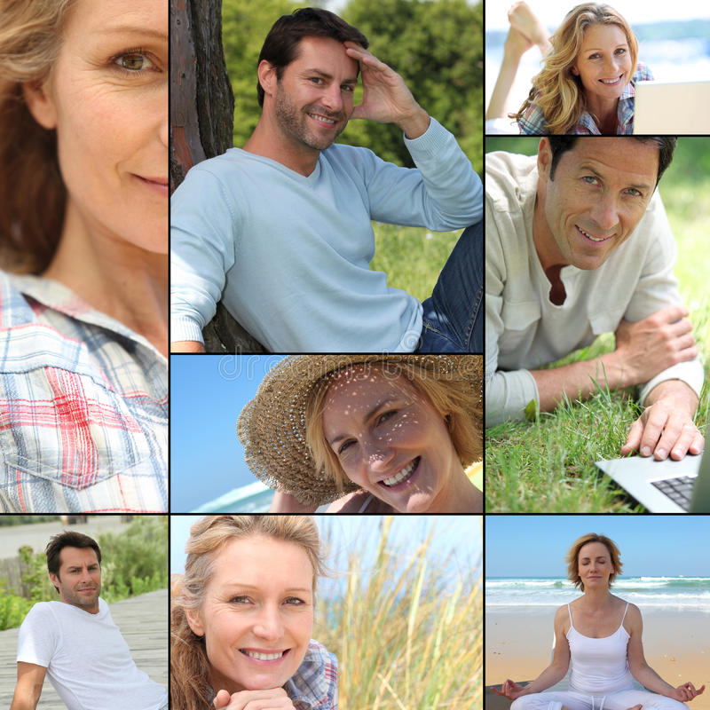 Download Portraits Of People Relaxing Stock Images - Image: 23790724