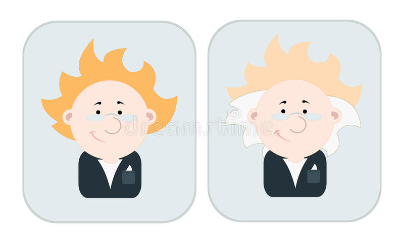 Download Portraits of scientist stock vector. Image of kind, manager - 15994023
