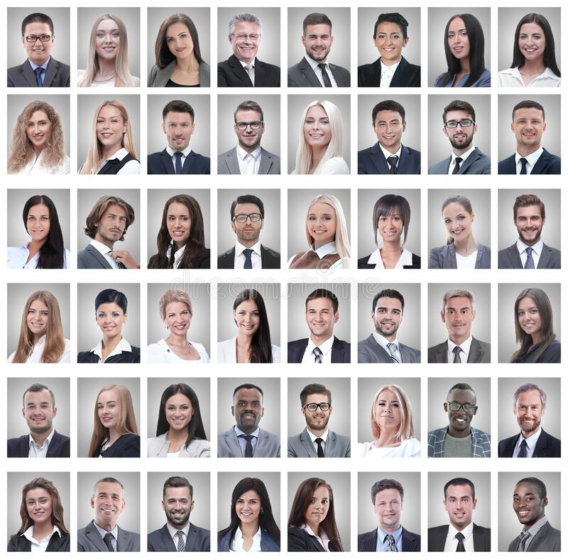 Portraits of successful young businessmen isolated on white royalty free stock photos