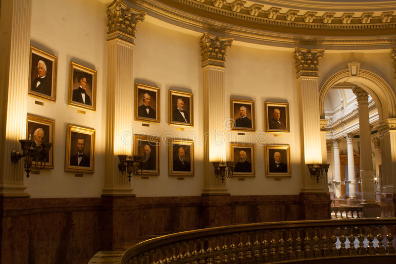 Portraits of US Presidents in the State Capital Building of Colorado royalty free stock images