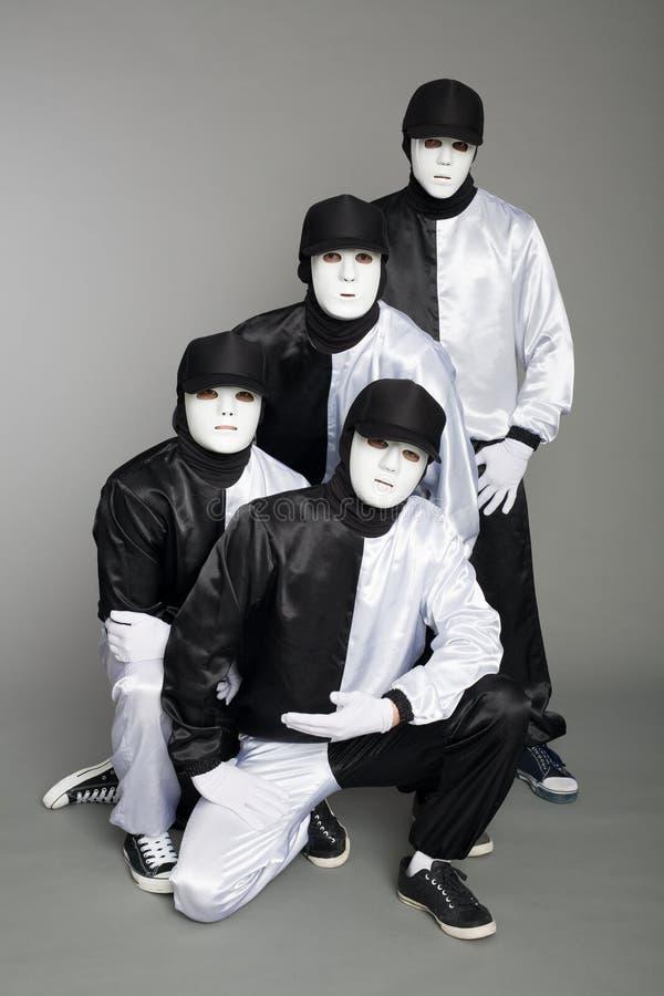 Portraitteam der Jungebruchtänzer lizenzfreies stockbild