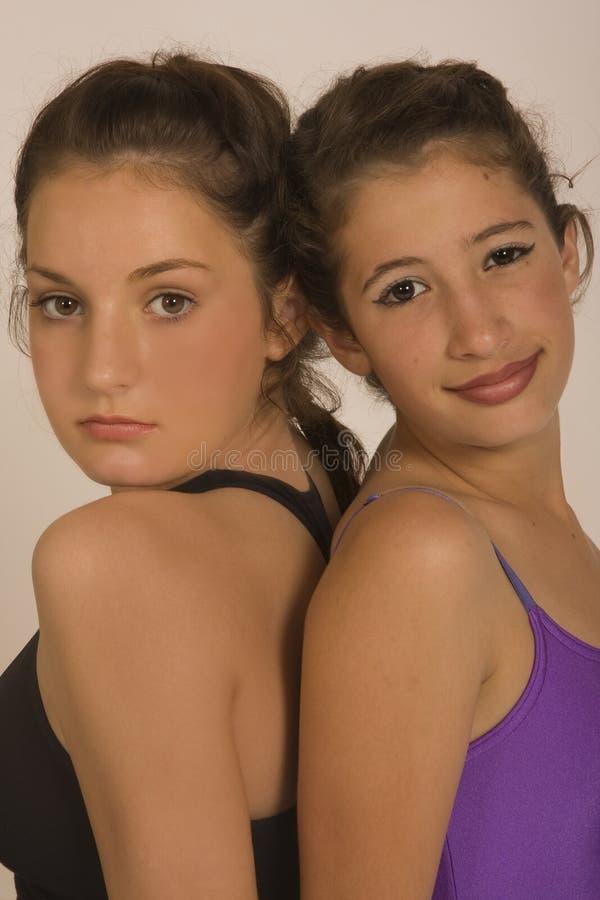 portrat гимнастики девушок балета стоковые фото