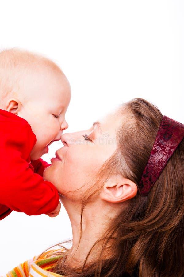 Portrat della madre e del bambino immagine stock libera da diritti