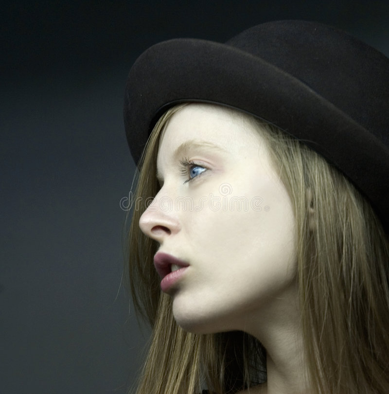 Portraut de la muchacha del blondie imágenes de archivo libres de regalías
