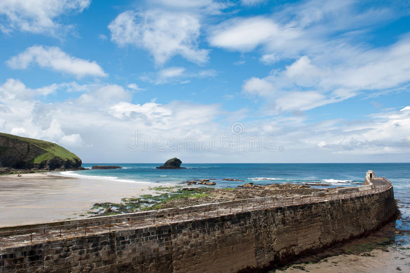 Download Portreath Beach And Harbour Cornwall Stock Image - Image: 25958113