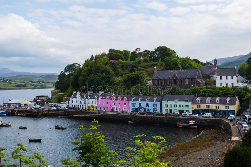 Portree στο νησί της Skye στοκ εικόνες με δικαίωμα ελεύθερης χρήσης