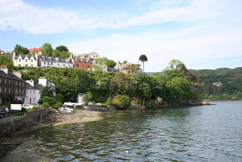 Portree Insel von Skye lizenzfreies stockfoto