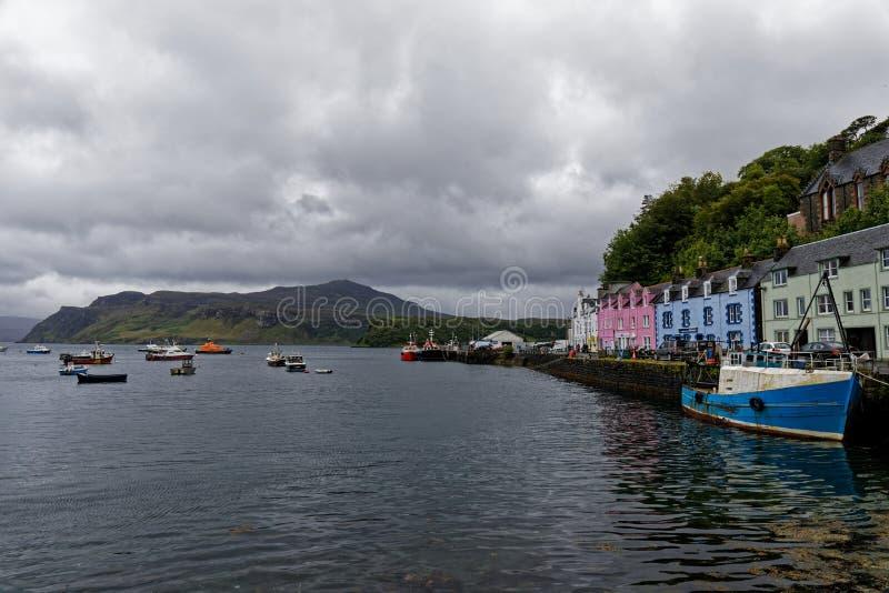 Portree - Isle of Skye, Σκωτία στοκ φωτογραφία
