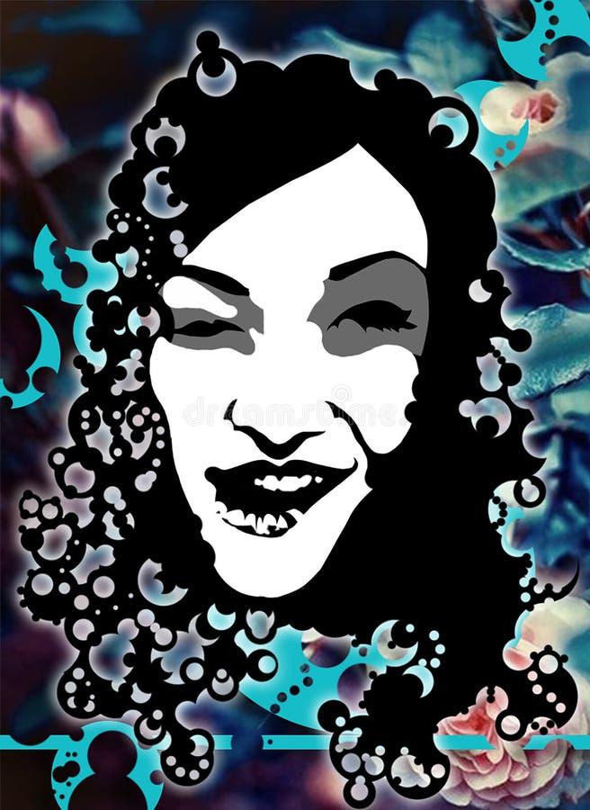 Portreit di una donna royalty illustrazione gratis