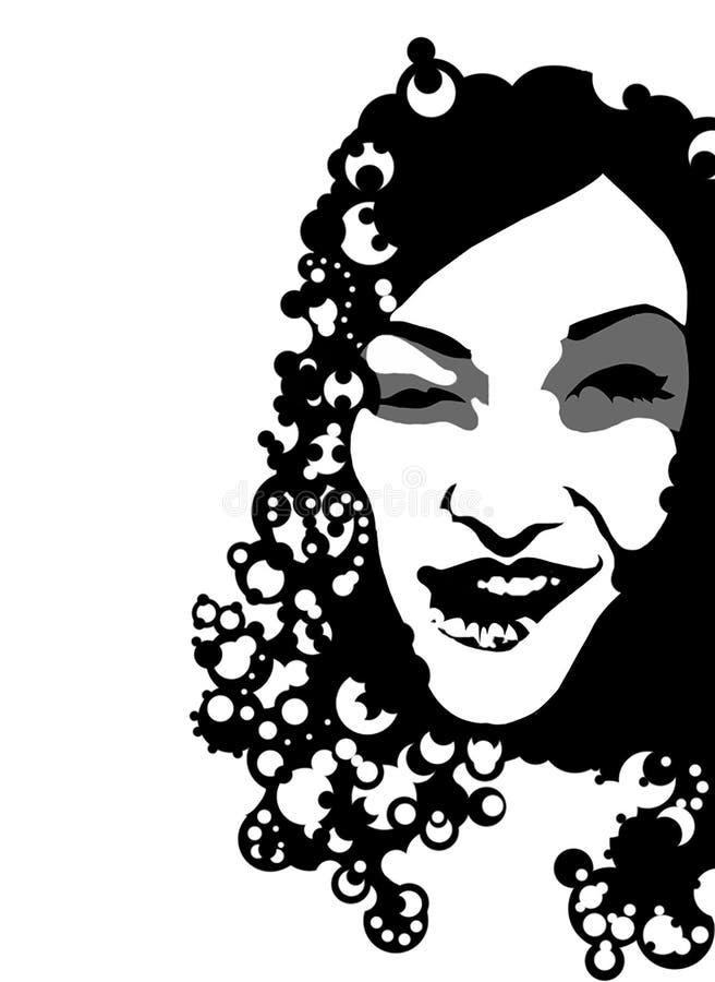 Portreit di una donna illustrazione di stock