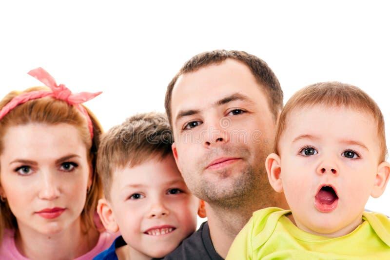 Portretów potomstwa rodzinni obrazy stock