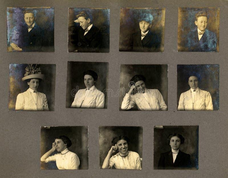 portretów rocznik dowody zdjęcia stock