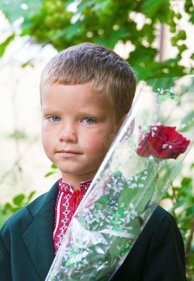 Portret ładny mały uczeń obraz stock