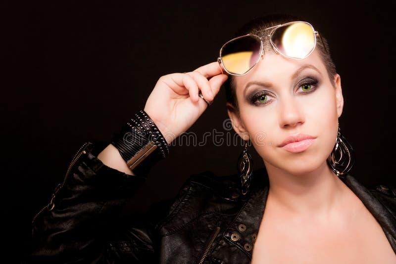 Portret łysa kobieta zdjęcia stock