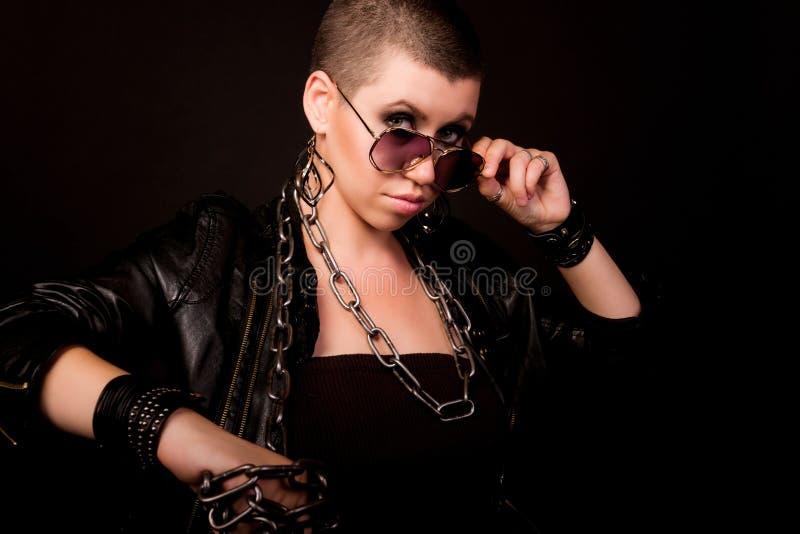 Portret łysa kobieta obrazy stock