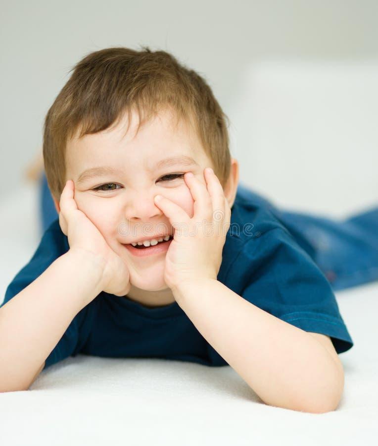 Portret śliczna chłopiec fotografia royalty free