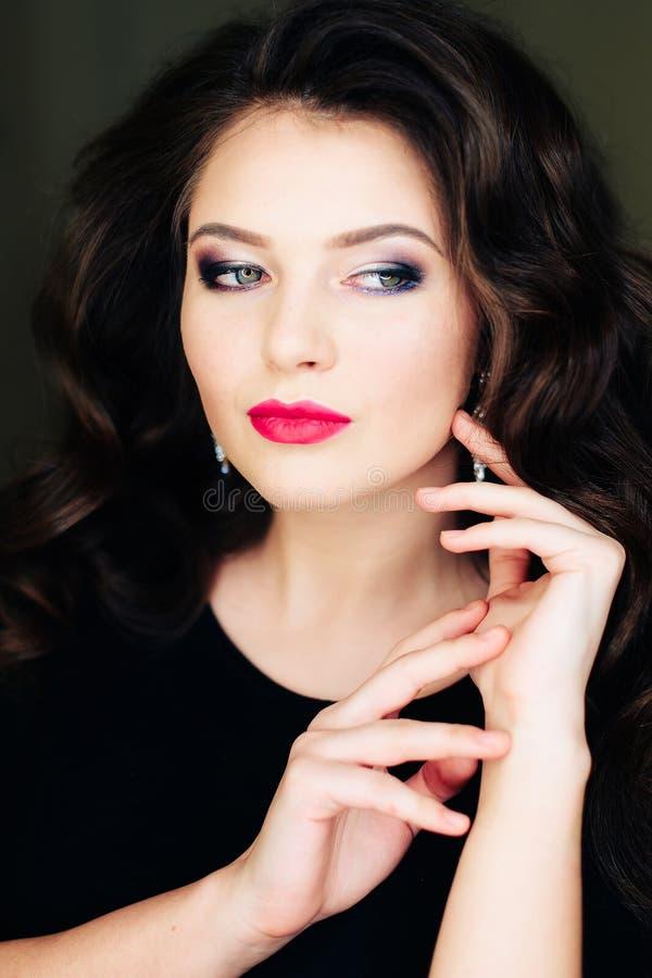 Portret śliczna dziewczyna, model zdjęcie stock