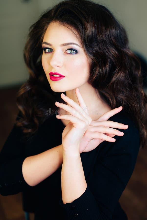 Portret śliczna dziewczyna, model zdjęcie royalty free