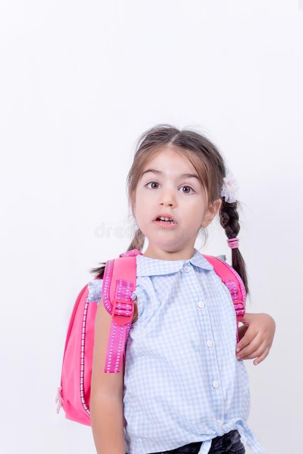 Portret śliczna dziewczyna w mundurku szkolnym fotografia royalty free