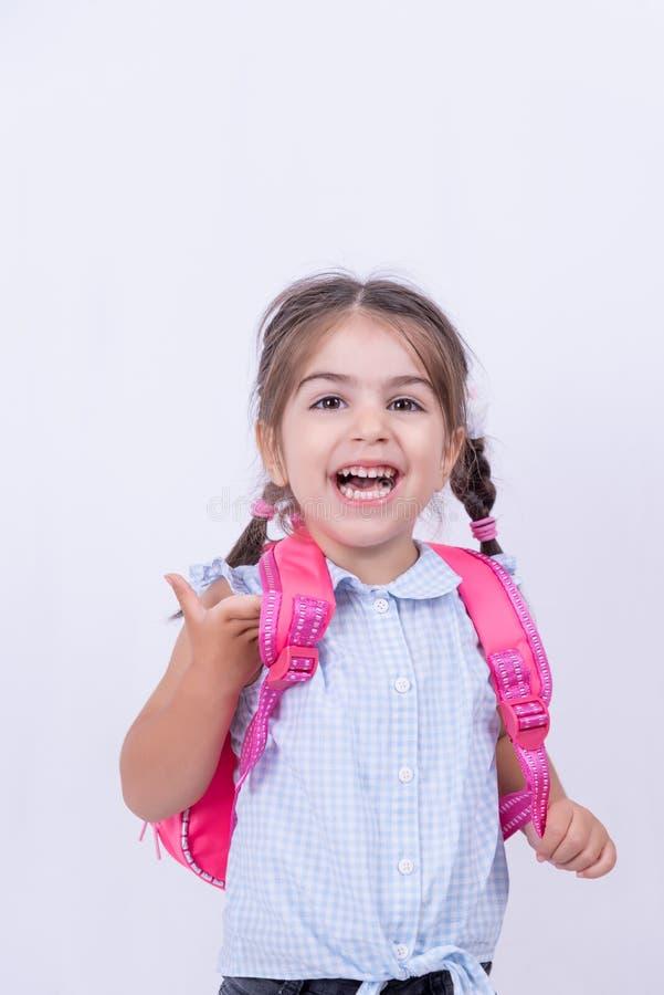 Portret śliczna dziewczyna w mundurku szkolnym fotografia stock