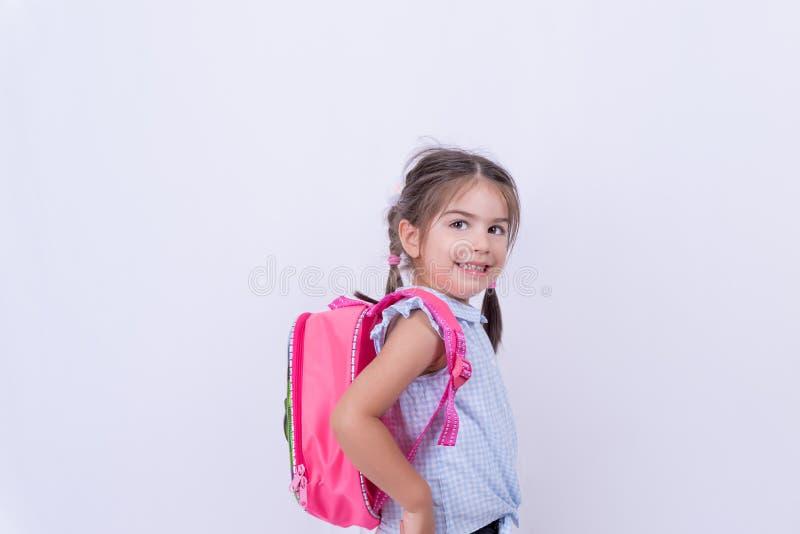 Portret śliczna dziewczyna w mundurku szkolnym obrazy royalty free