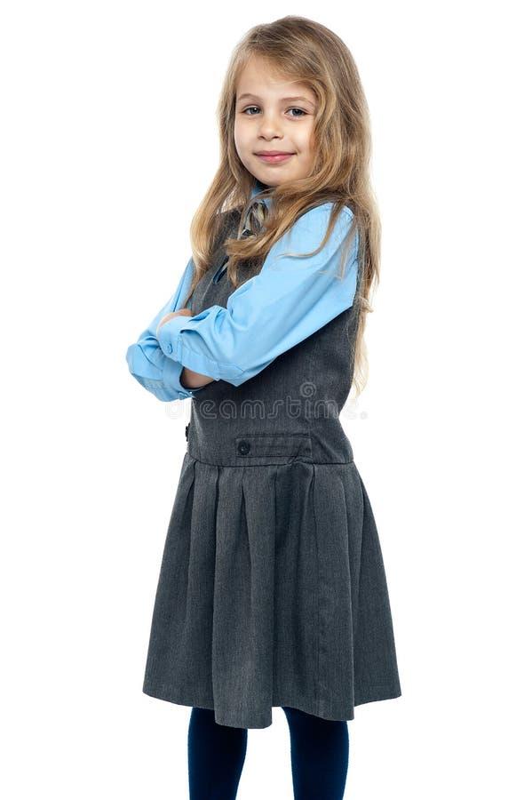Portret śliczna mała uczennica obraz royalty free