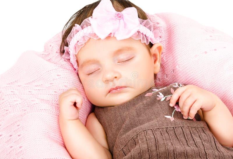 Portret śliczna sypialna dziewczynka zdjęcie royalty free