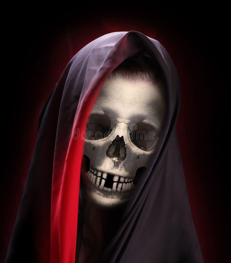 Portret śmierć zdjęcie stock