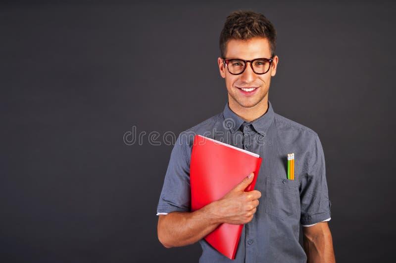 Portret śmieszny głupka mężczyzna fotografia stock