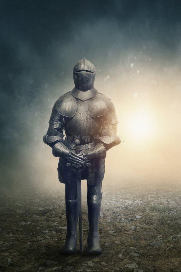 portret średniowieczny rycerz zdjęcie stock