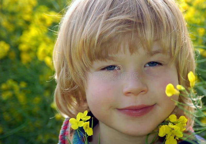 portret żółty zdjęcie stock