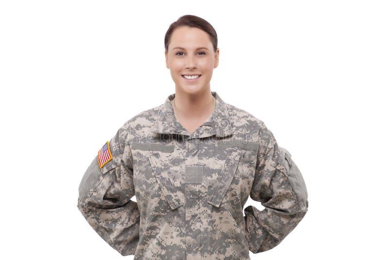 Portret żeński żołnierz zdjęcia stock