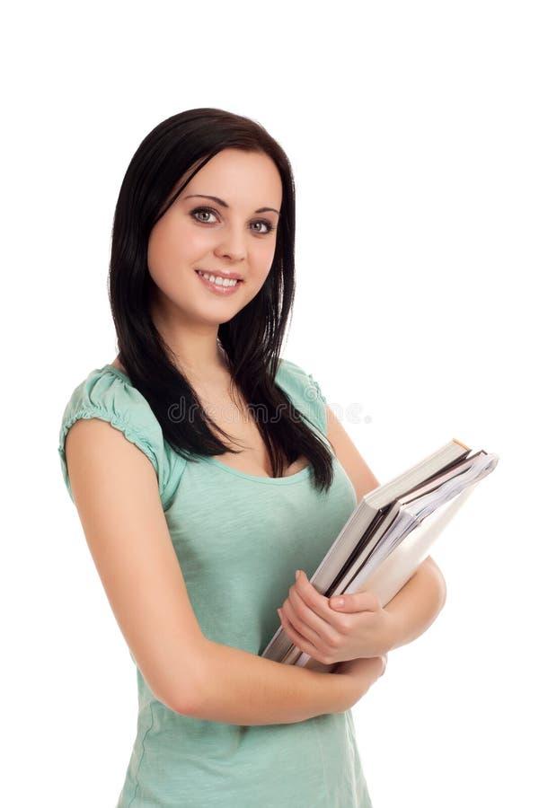 Download Portret żeński Uczeń Z Książkami. Obraz Stock - Obraz złożonej z biznes, szczęśliwy: 28959665