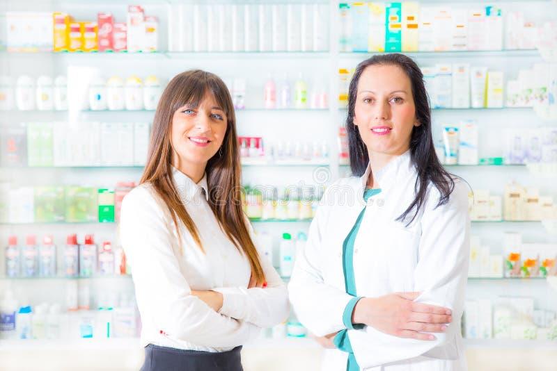 Portret żeńskie farmaceuty obraz royalty free