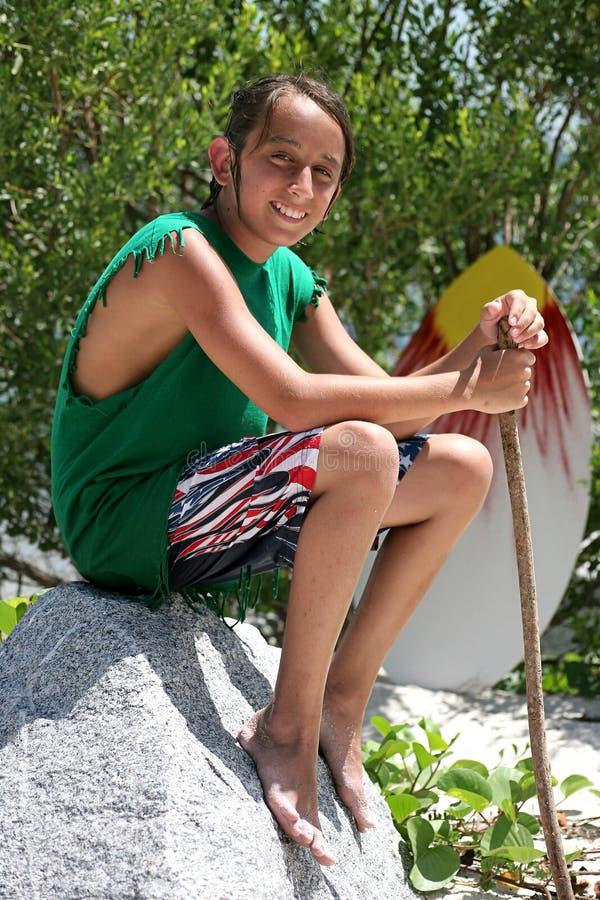 Portret 1 van de Jongen van Surfer stock foto's