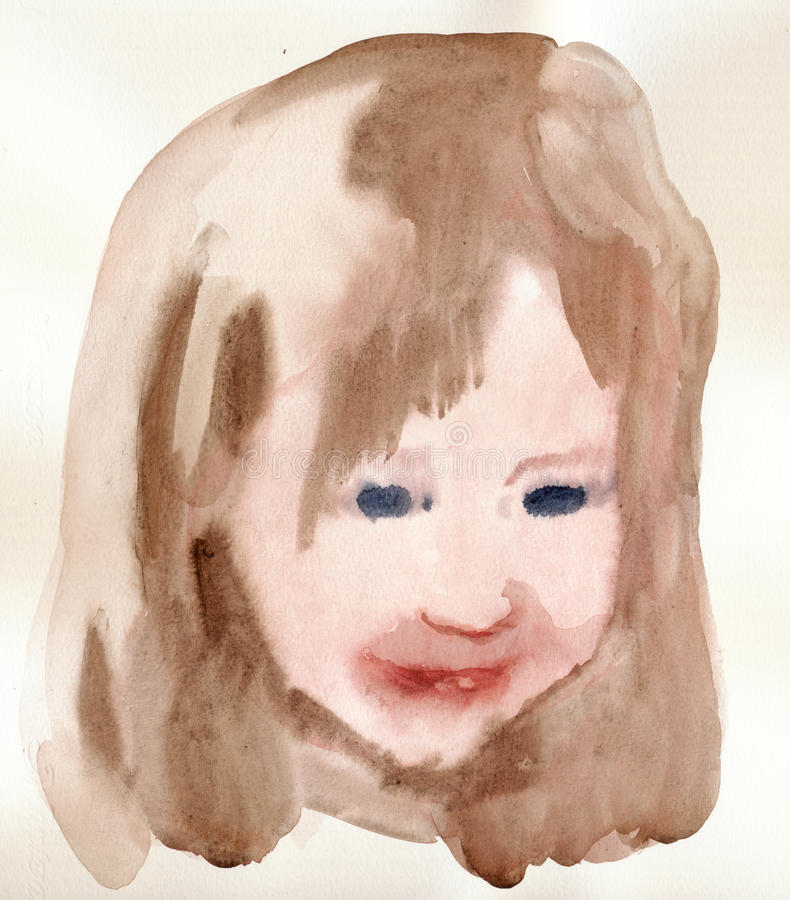 Portret 2 royalty-vrije illustratie